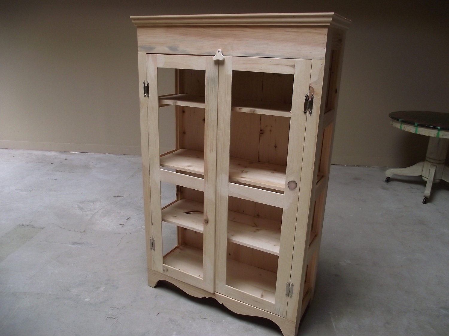 Pie Safe or Kitchen Hutch, DIY, Unfinished Local Pine, Made to Order in any dimensions, Endless Custom Finishes Possible