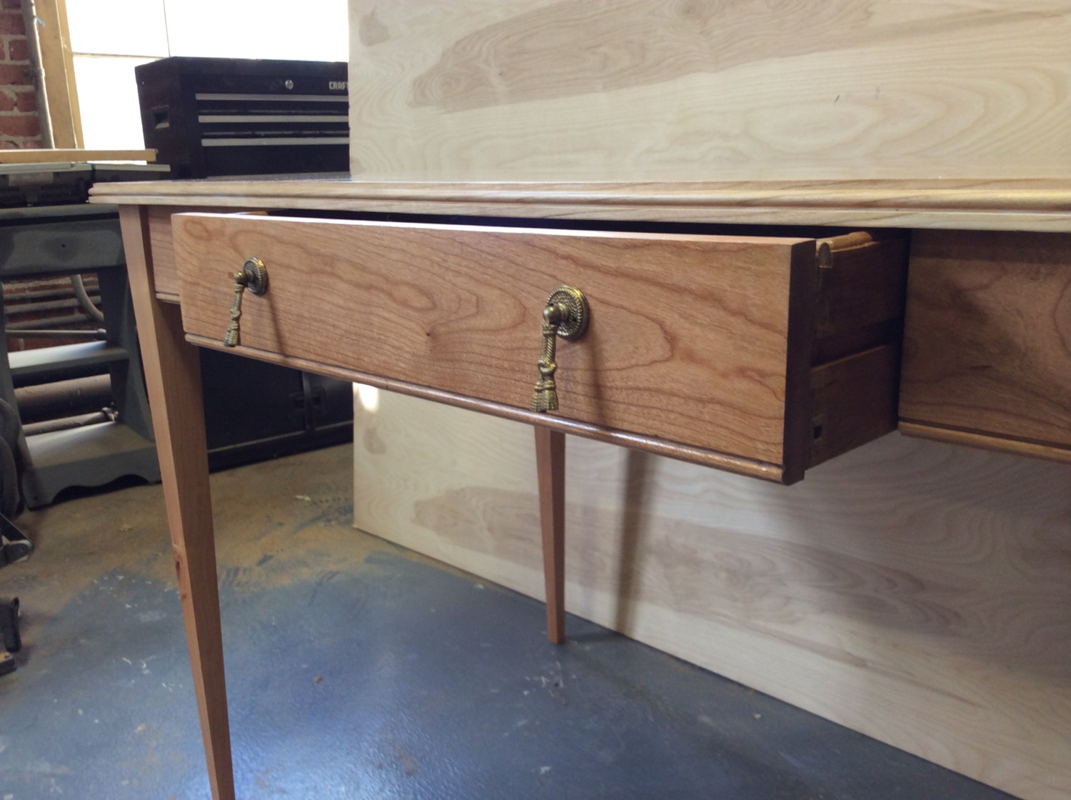 Custom Made Desk, Solid cherry, Classy minimalism