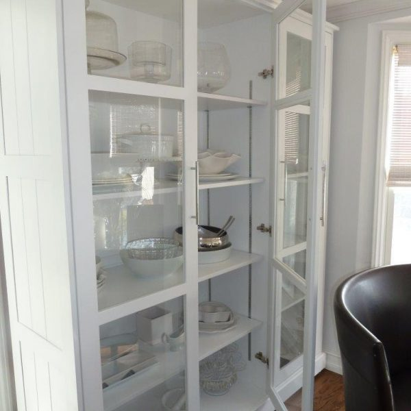 Display Cabinet Custom Built Dining Room Kitchen Hutch China Collectors Studio 4