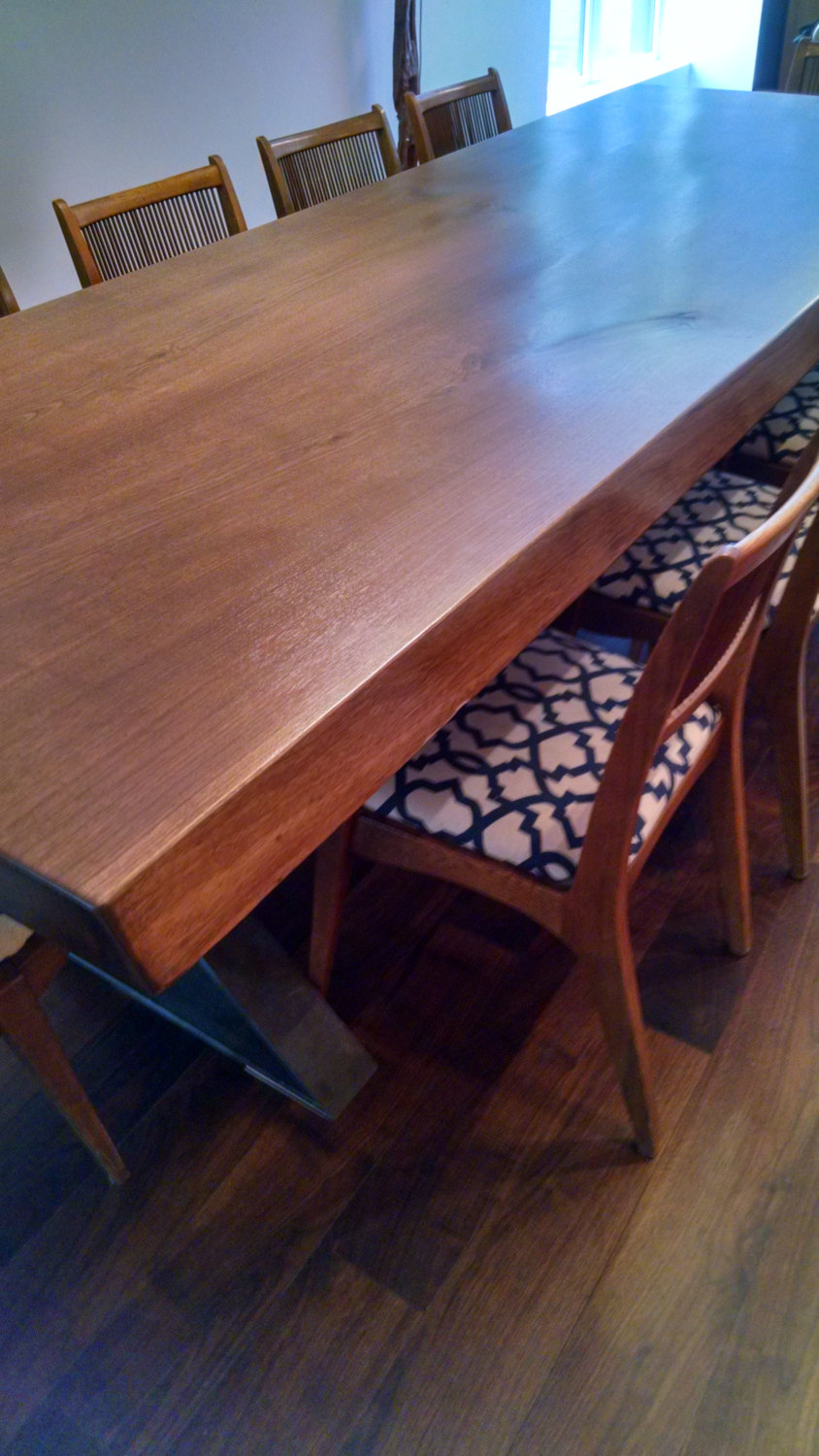 Dining Table, Custom dimensions, Walnut and many other woods, dimensional, slant or live edge
