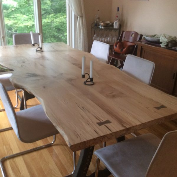 Live Edge Dining Table, Local Spalted Hard Maple – Studio 4