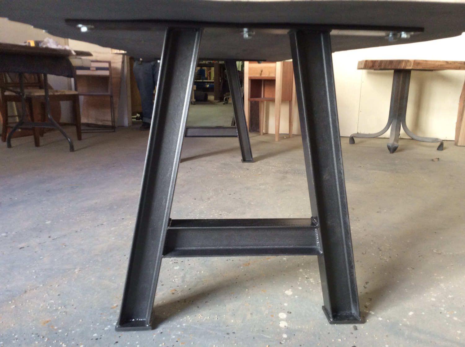 I Beam Table Base, Steel Table Legs, Industrial table Base, Industrial Chic