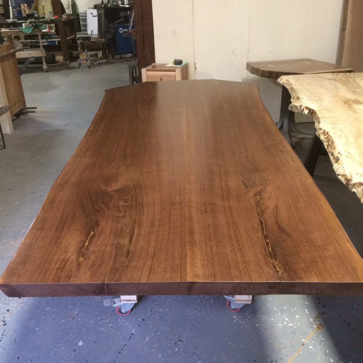 Black Walnut Live Edge Dining Table, Your Choice Of Legs