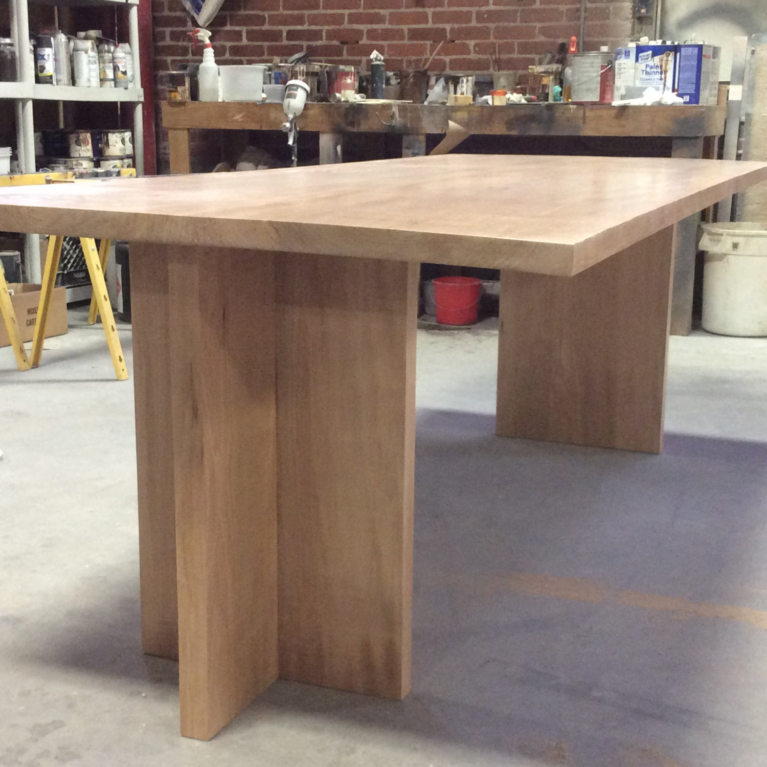 Modern dining, Tiger maple, 8 feet long
