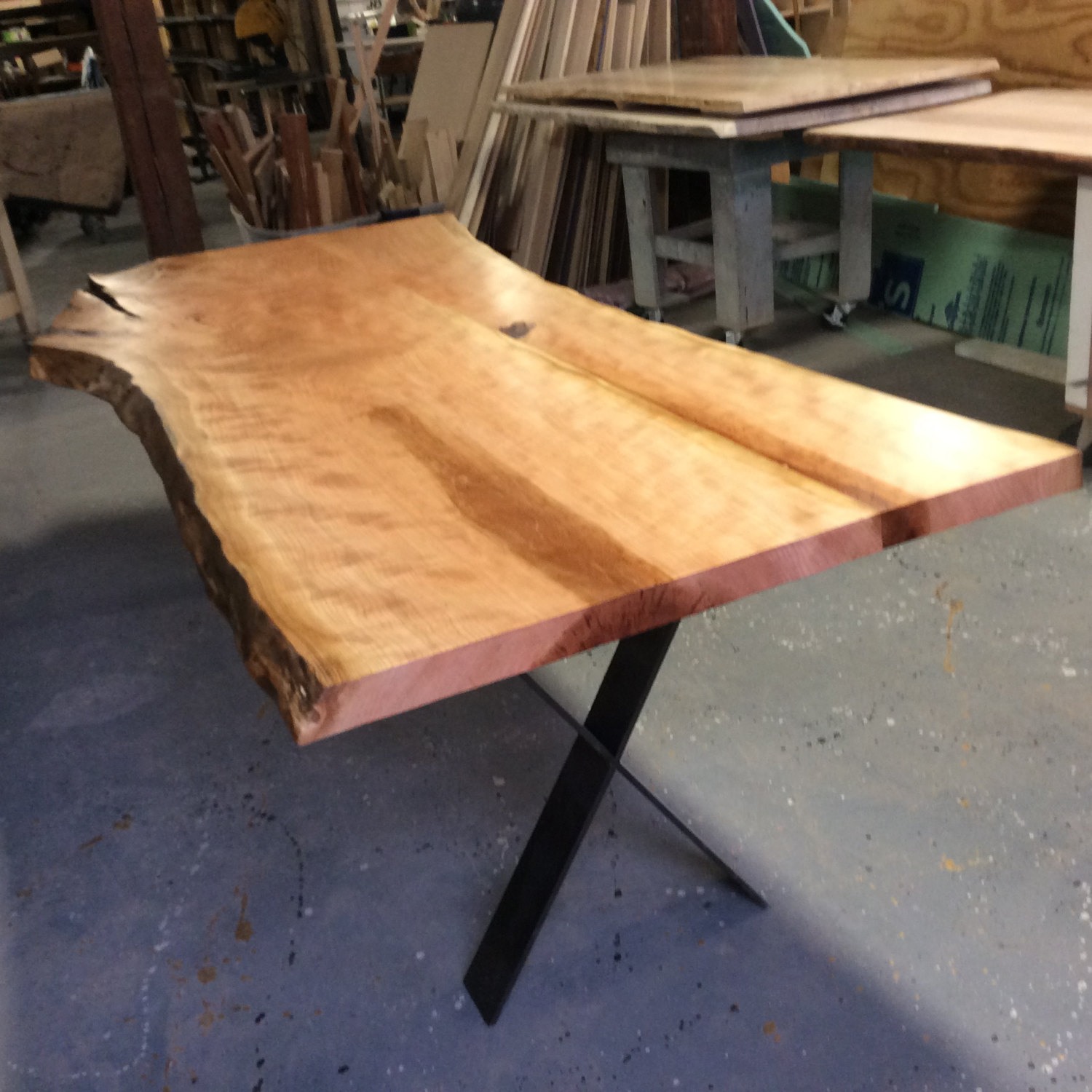 Centerpiece Dining table, local cherry with no stain, 8 feet, Ready to go